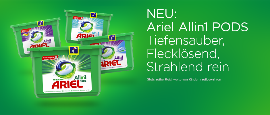 NEU: Ariel 3in1 PODS