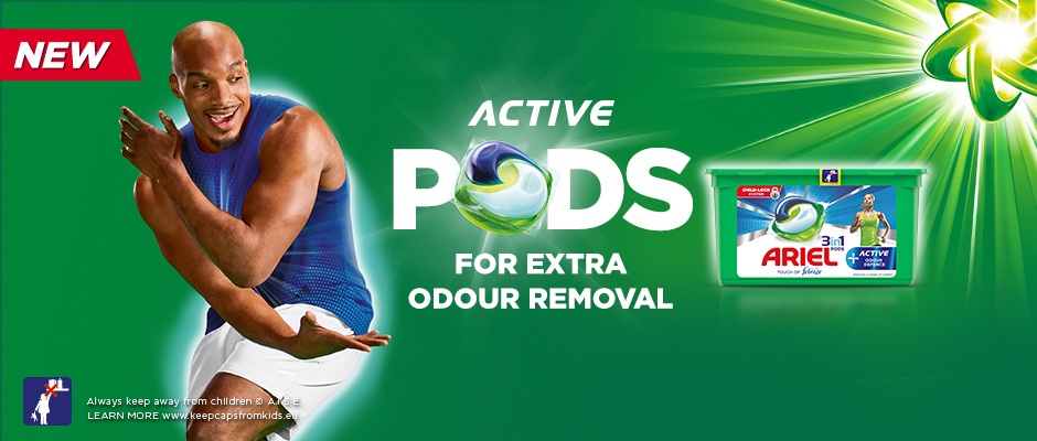 Active Pods For Extra Odour Removal
