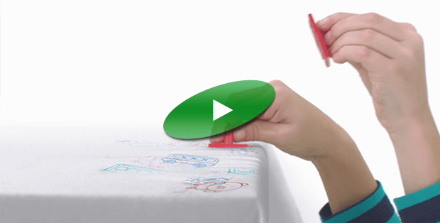 Steps showing how to remove ink stains