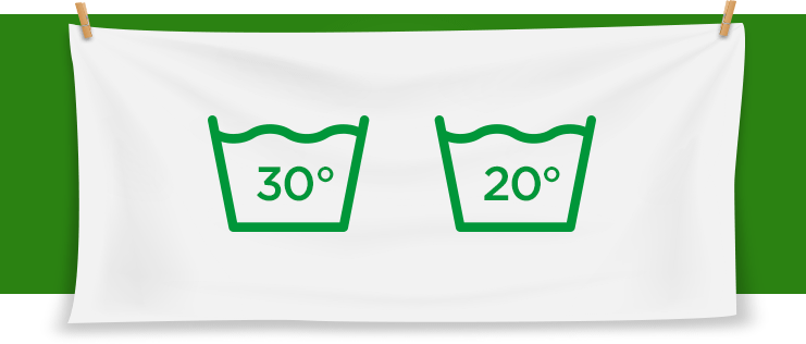 cold wash fabric care label symbols