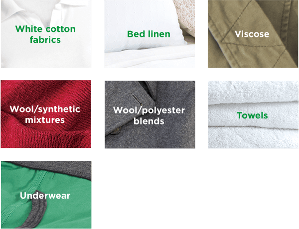 fabric types to wash on warm