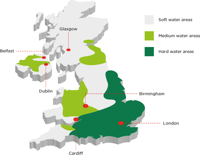 UK hard water areas
