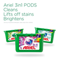 Ariel 3in1 PODS Cleans Lifts off stains Brightens