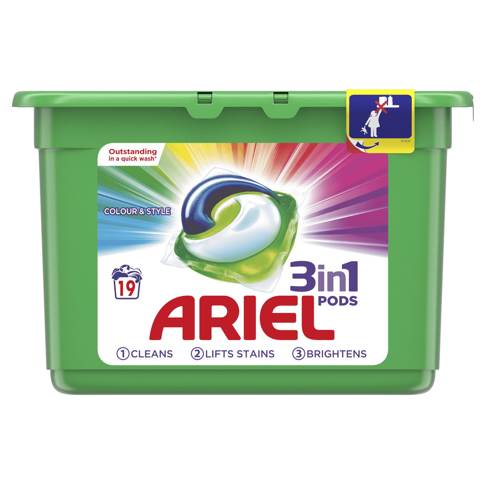 Ariel 3in1 PODS Washing Tablets Colour & Style