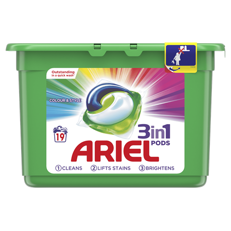 7a5c1ca2f49e Ariel 3in1 PODS Washing Tablets Colour & Style ...