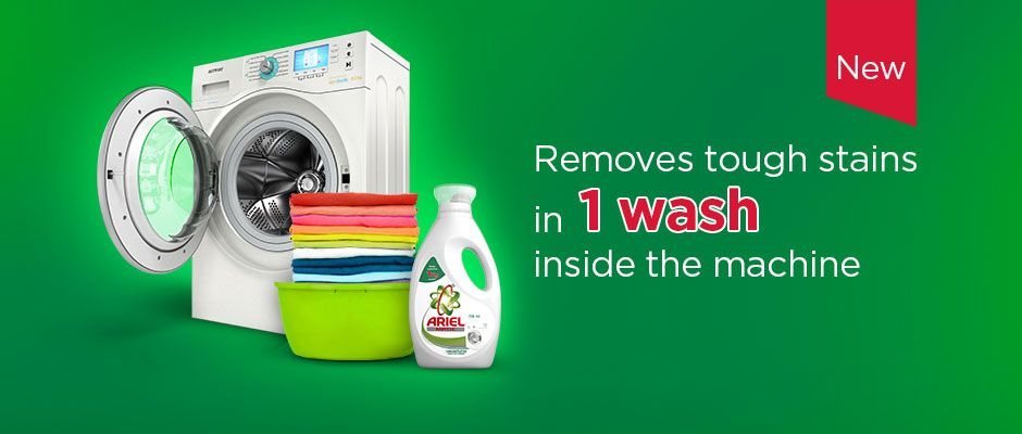 Removes tough stains in 1 wash inside the machine