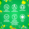 Gain Scent Blast Fiercely Fresh Liquid Laundry Detergent is free of phthalates, CFCs, and phosphates; is made with 100% renewable electricity; and its packaging is recyclable. It can clean in hot and cold water!