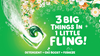 Gain Island Fresh Flings are a 3-in-1 laundry pac with Detergent, OXI boost and Febreze - 3 big things in 1 little fling!