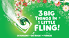 Gain Tropical Sunrise Flings are a 3-in-1 laundry pac with Detergent, OXI boost and Febreze - 3 big things in 1 little fling!