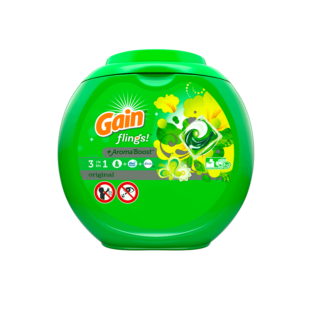 Original Flings With Oxi Boost & Febreze Freshness