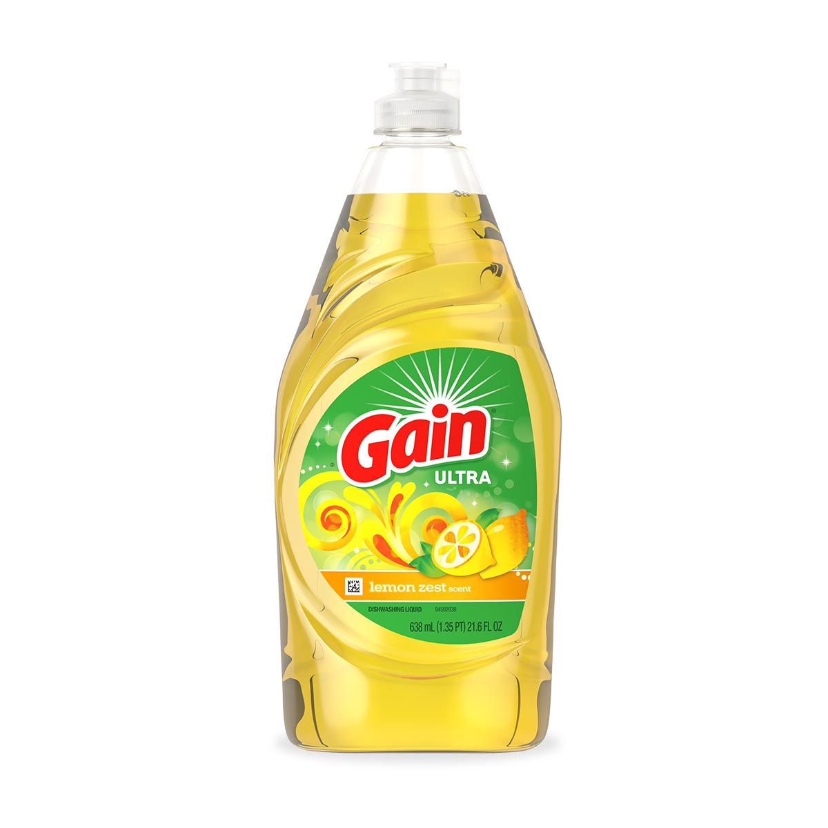 Gain Antibacterial Lemon Zest Liquid Dish Soap