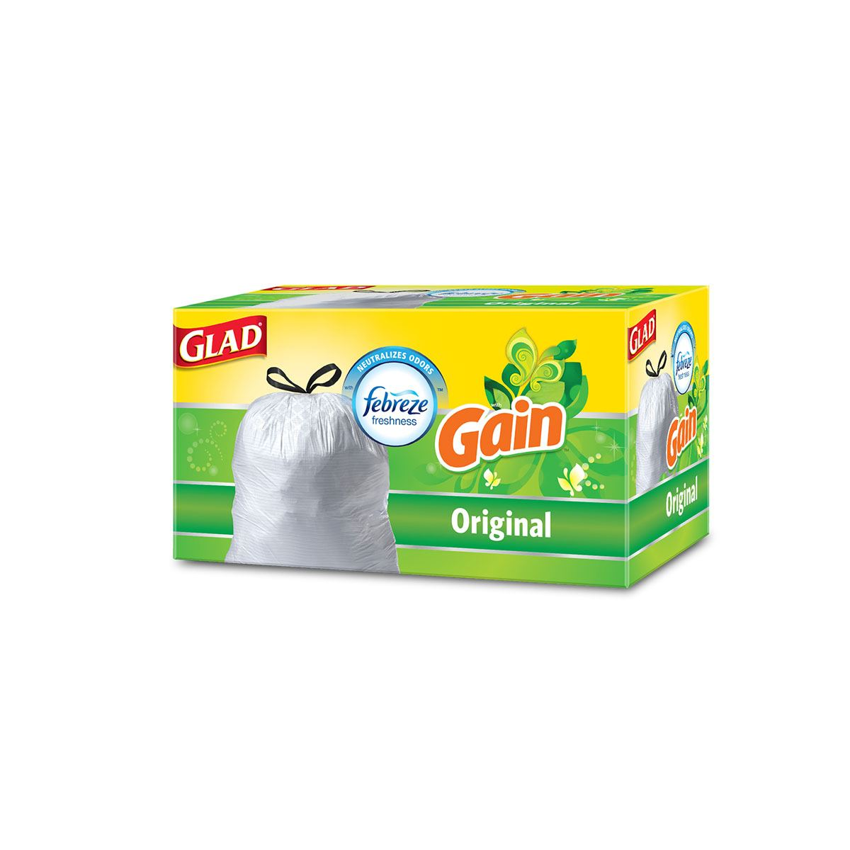 Glad Trash Bags with the scent of Gain Original