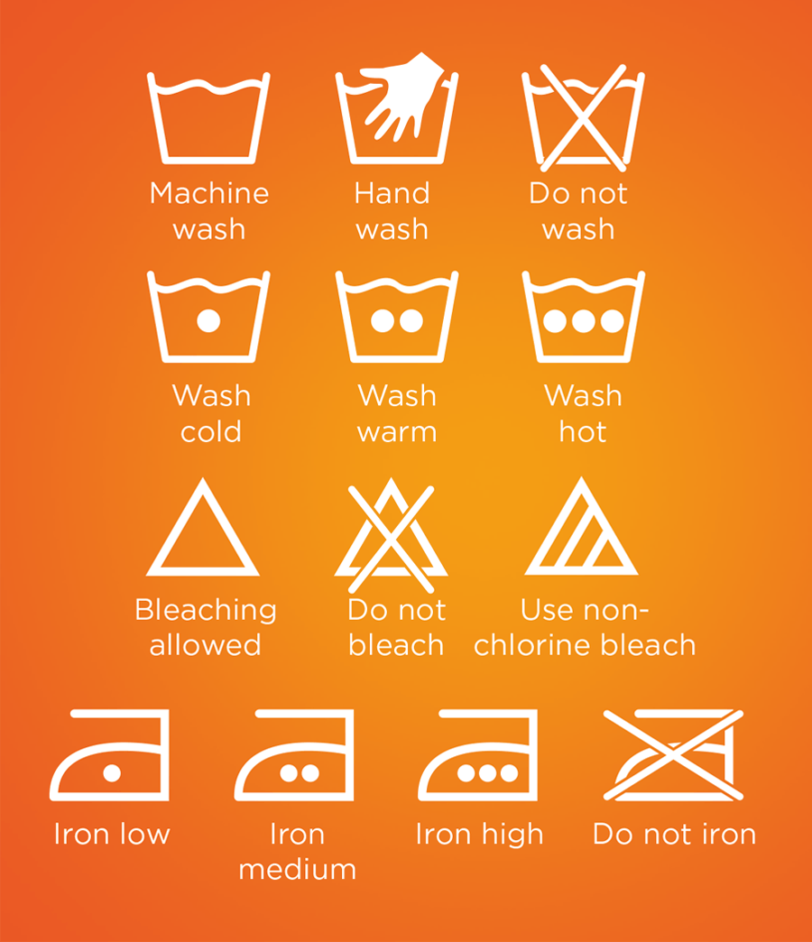 clothing garment washcare labels LOOK  VARIATIONS
