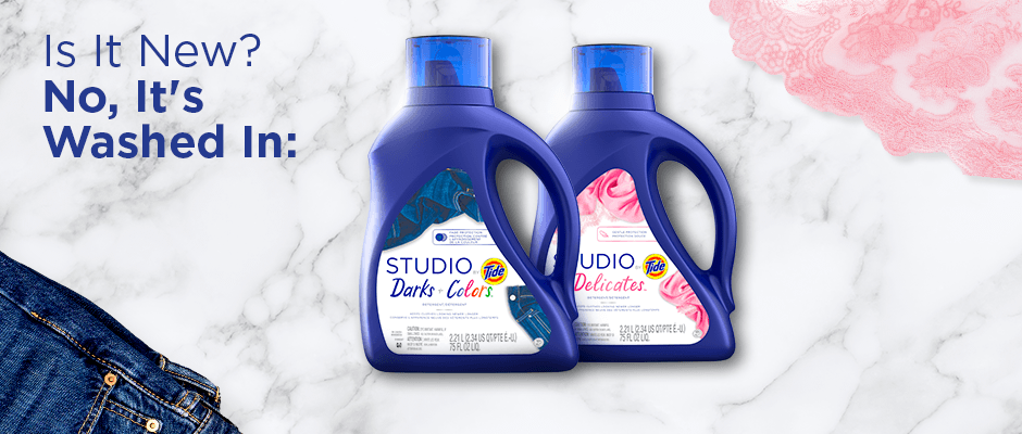 Tide introduces the new Studio by Tide detergents for your dark and colored clothes and delicate garments