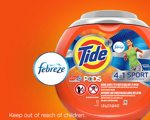 Tide PODS® Plus Febreze Sport Odor Defense