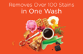 Tide Plus Coldwater Clean products remove over 100 stains in one wash