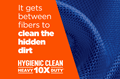 Tide Hygienic Clean Heavy Duty 10X Liquid Laundry Detergent gets between fibers to clean the hidden dirt.