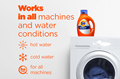 Tide Hygienic Clean Heavy Duty 10X Liquid Laundry Detergent works in all machines and water conditions.