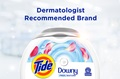 Tide PODS® Plus Downy Free Laundry Detergent Pacs are recommended by dermatologists.