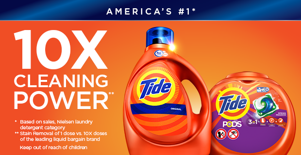 America S 1 Laundry Detergent Tide