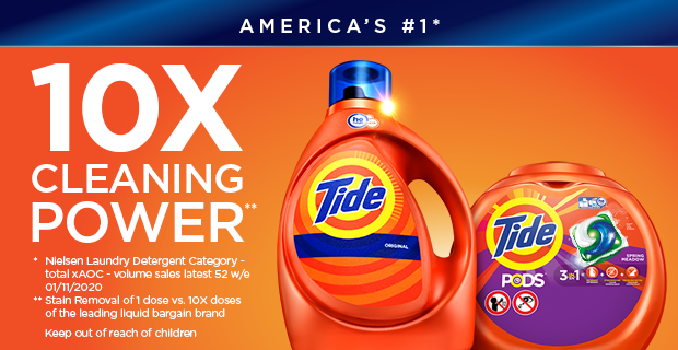 America's #1 Detergent 10X Cleaning Power