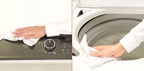 Clean your washer with soapy water