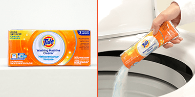 Tide Washing Machine Cleaner fights odors that come from a smelly washer.