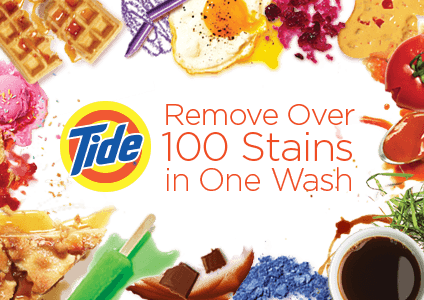 Removes Over 100 Stains in One Wash