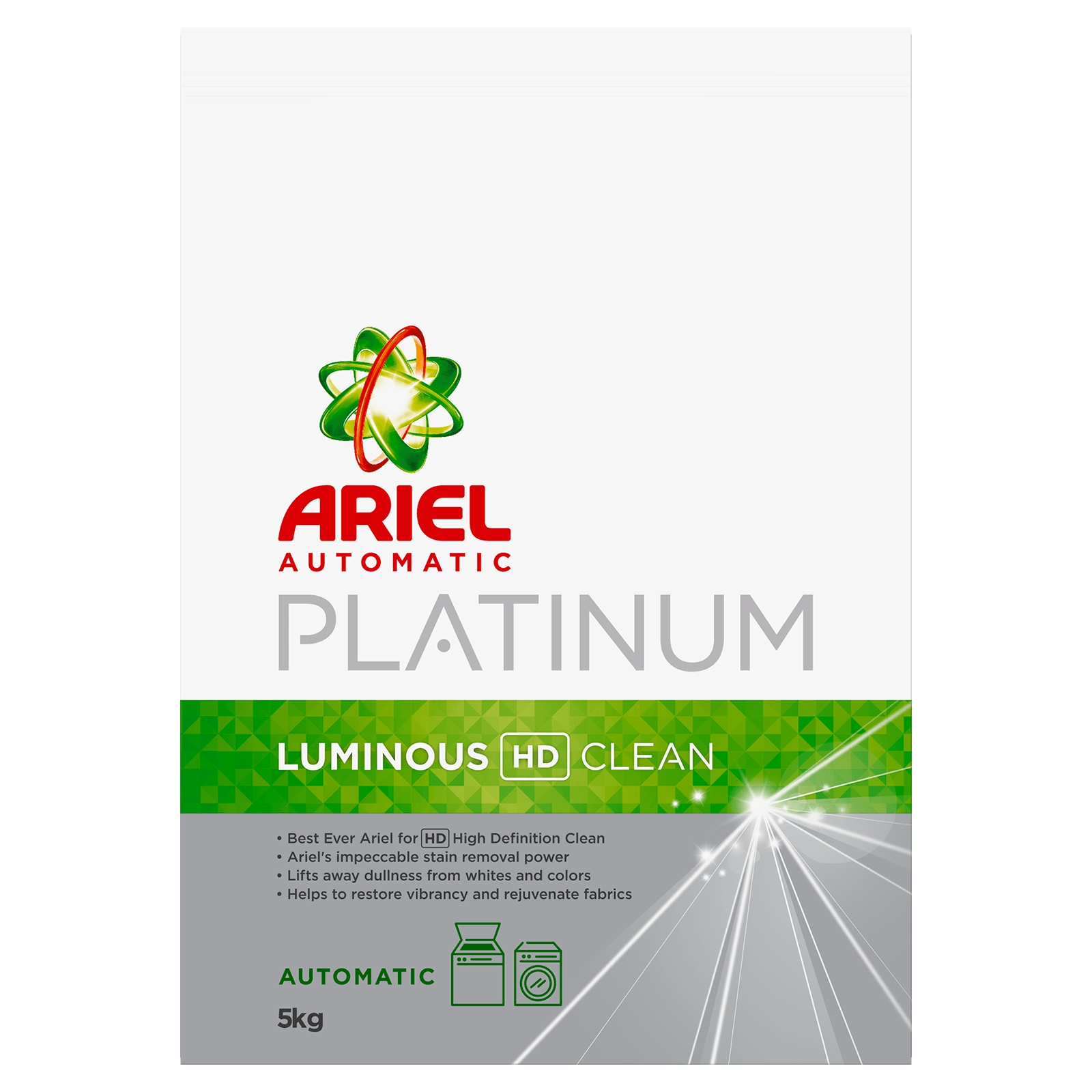 luminous automatic washing powder - ariel platinum