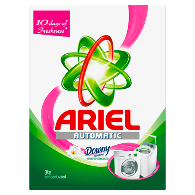 Ariel Automatic Washing Powder Laundry Detergent Touch of Freshness Downy Jasmine 3kg