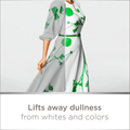 Lifts away dullness from whites and colors