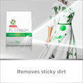 Removes sticky dirt