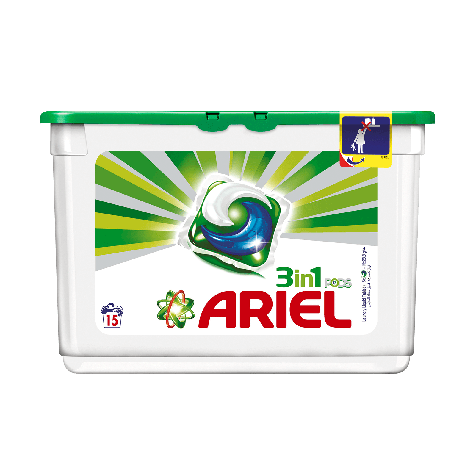 Ariel Automatic Washing 3in1 PODS Detergent Original Perfume 16cts