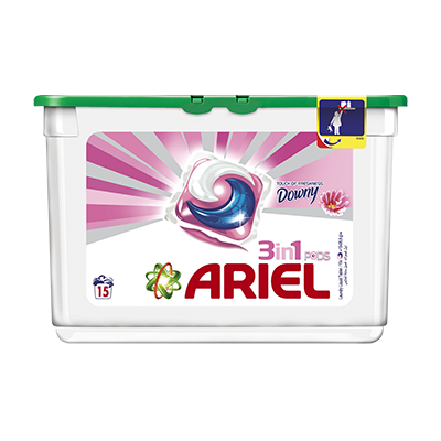 Ariel Automatic Washing 3in1 PODS Detergent Touch of Freshness Downy 15cts