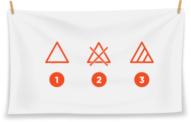 Laundry Symbols for using bleach