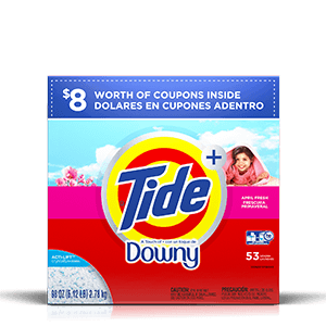 Detergente en polvo para la ropa Tide Plus A Touch of Downy