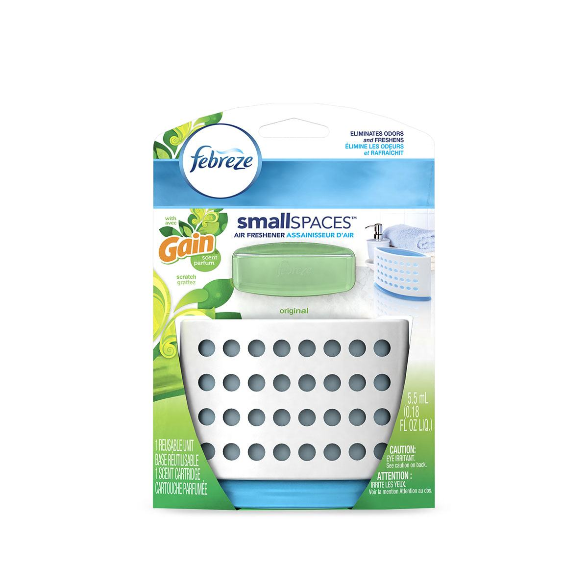 Assainisseur d'air Febreze SmallSpaces avec Gain Original